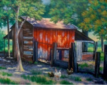 Ed Crumley Red Coop 16 x 20 Oil Linen.jpeg