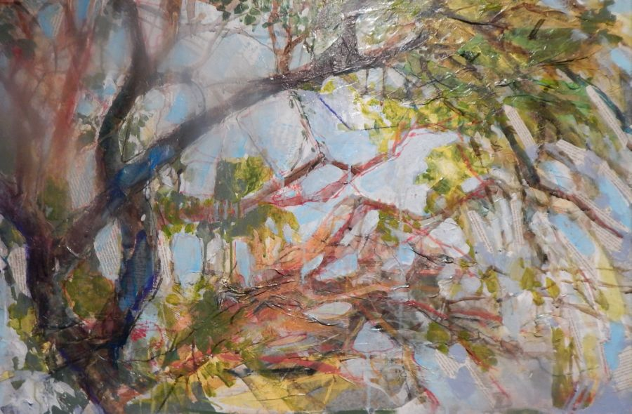 Liz Hill, Austin Canyon, 24 X 36 MIXED MEDIA.jpg