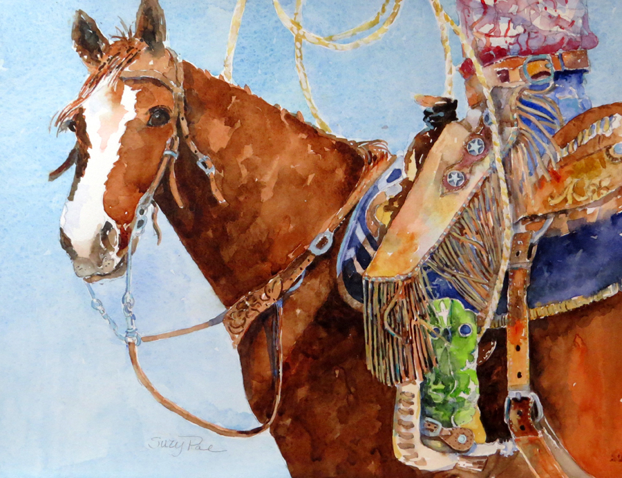 Suzy Powell The Cowgirl 16x20 Watercolor on Paper .jpg