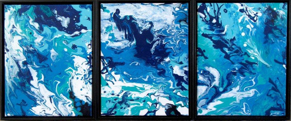 Susie Kelly Flatau, Migration (tryptych) acrylic