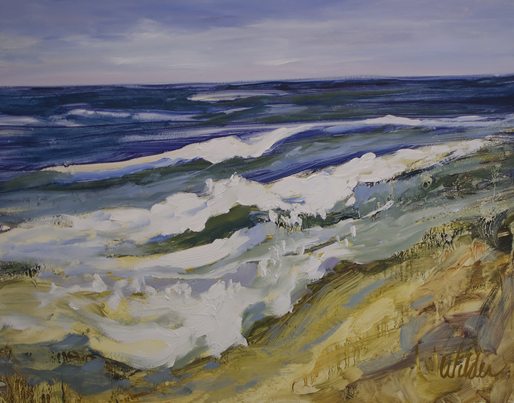 "Judy Wilder Dalton, GRAND PRIZE, ""Surf"" oil 11x14 inches"