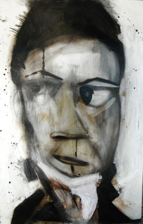Mischevious  Young Beethoven  20x28 Oil and Ink 2011