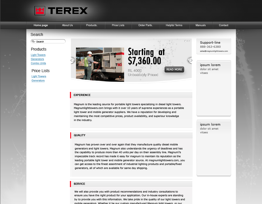 Terex Site Redesign
