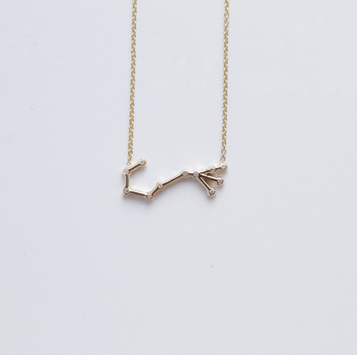 gold cancer hare hunter constellation necklace beau stella and jewelry product