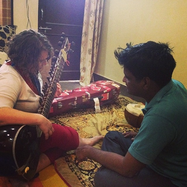 with sitarist Asit Goswami, photo by Gopal Singh Chouhan