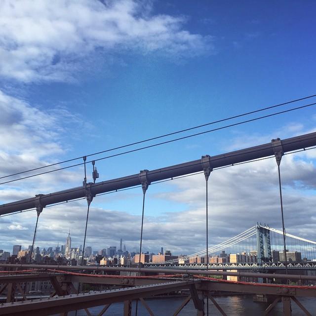 at Brooklyn Bridge