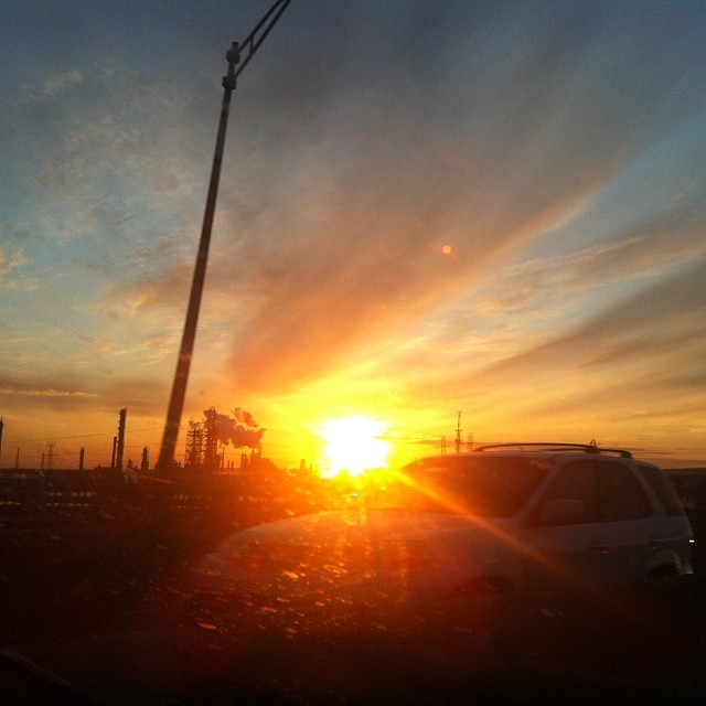 #newjersey #highway #turnpike #sunset #roadtrip #springbreak #nofilter