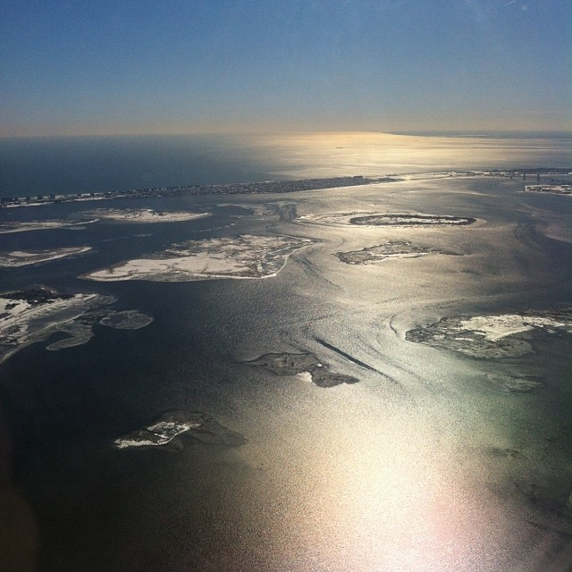 The #rockaways in the snow. Leaving #JFK for NC. #moralmonday