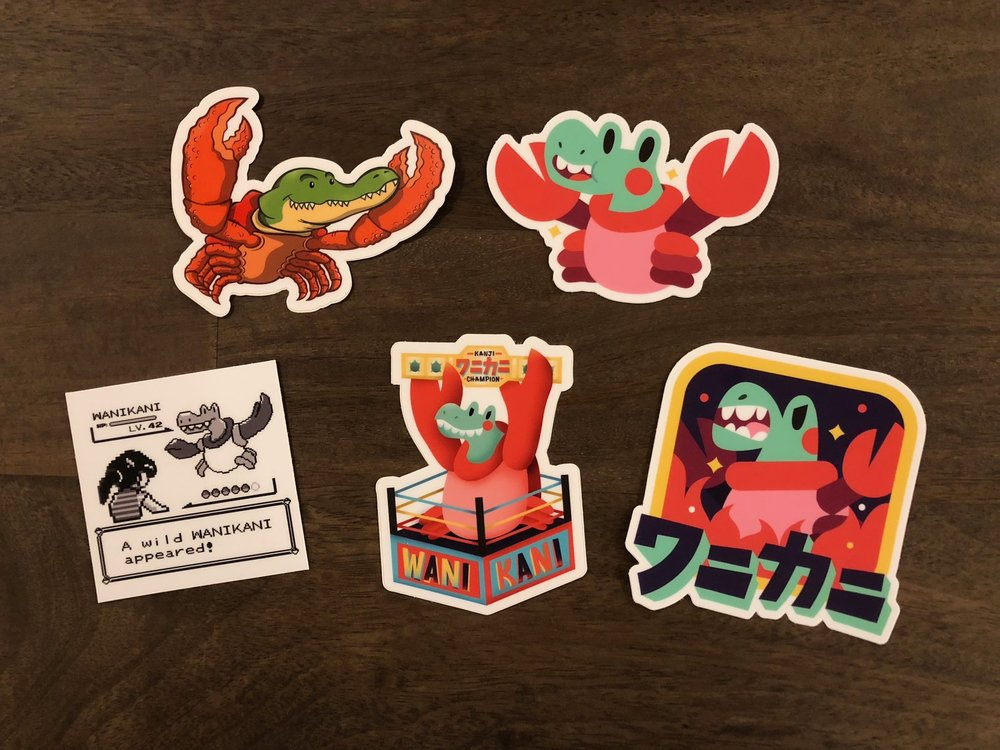 WaniKani Sticker Variety Pack