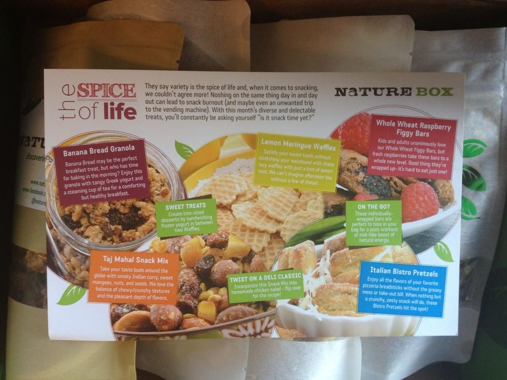 Nature Box recipe details