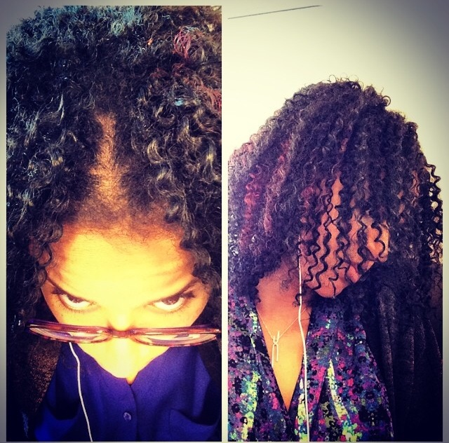 Crochet Braids Middle Part