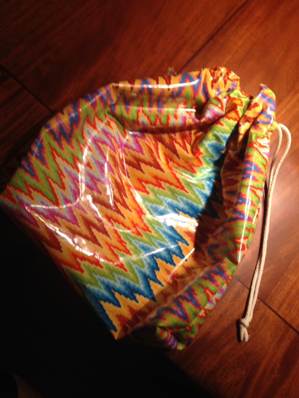 laminated cotton drawstring bag DIY