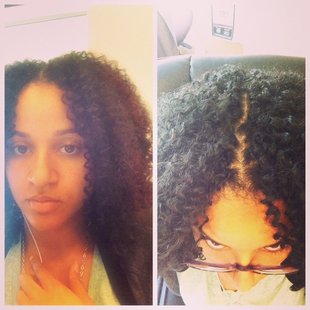 Crochet Braids Middle Part : Deep Twist Crochet Braids , Freetress Gogo Curl Crochet Braids ...