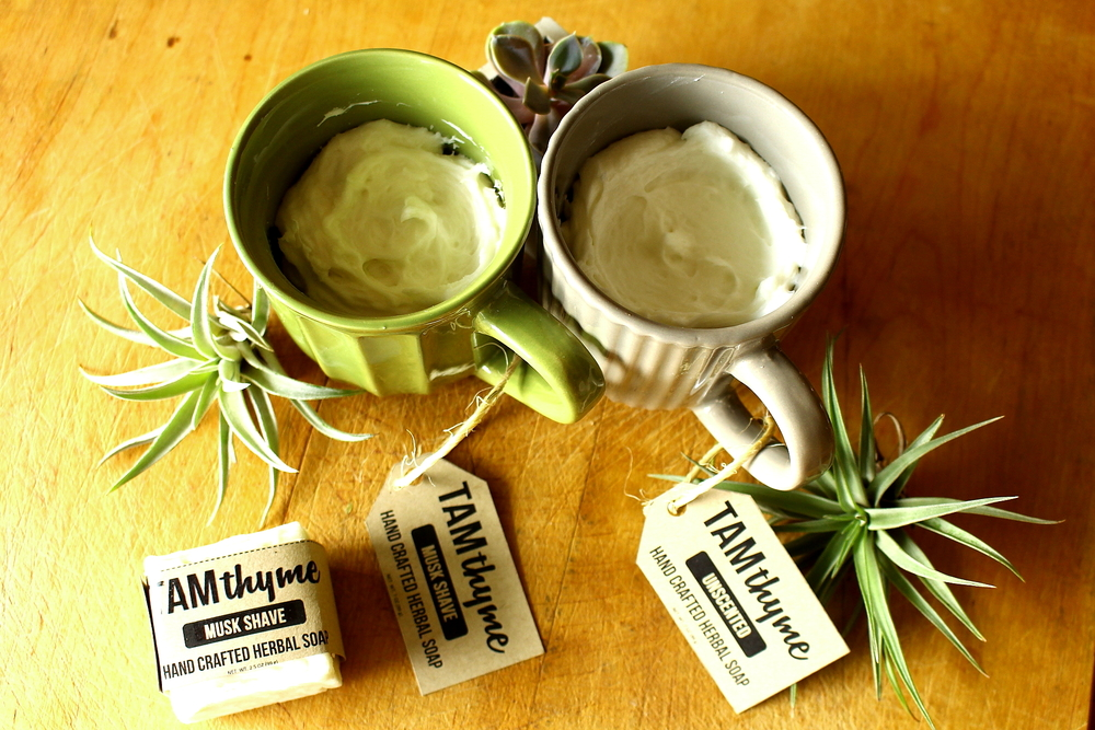 Scented and Unscented Shave Soap bars and mugs