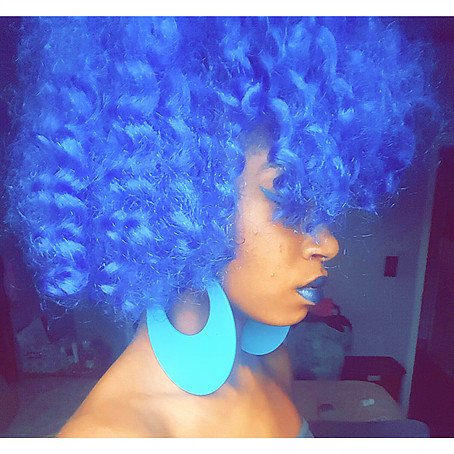 Blue Crochet Braids