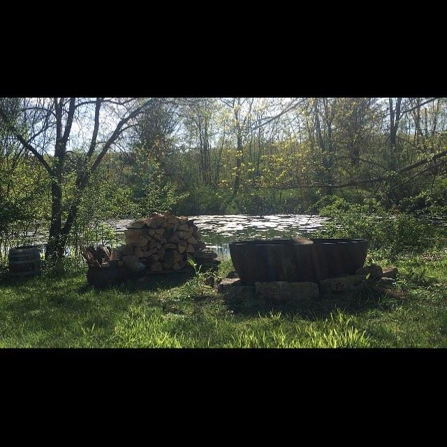 Improved fire pit location. Jungle pond.