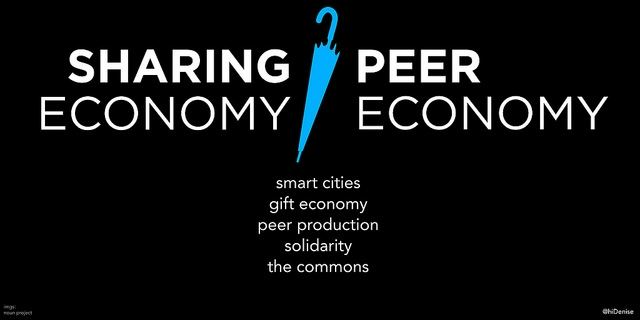 The revolution of shopping and creating jobs for the local economy through sharing