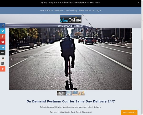 UberOnTime.com On demand Postman Courier Los Angeles