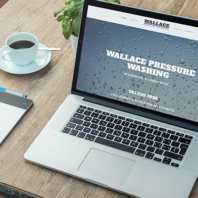 Wallace Pressure Washing   Website Design