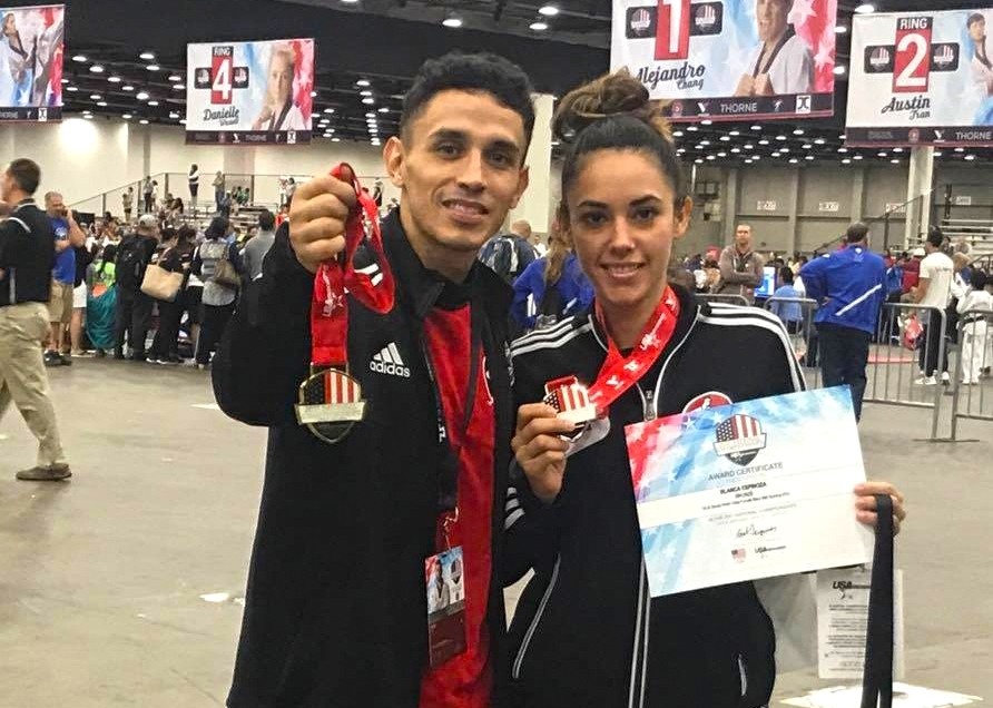 United States National Champion Master Gus Villa and Bronce Medalist Instructor Blanca Espinoza 2017