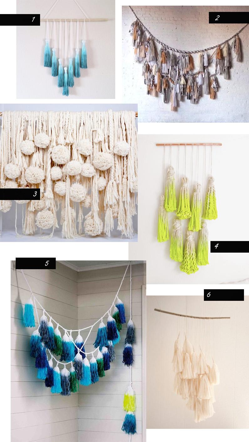 1)  Jeanie Helzer  2)  Confetti Systems 3-5)  Tamar Maynes 6)  Fleur Luxe