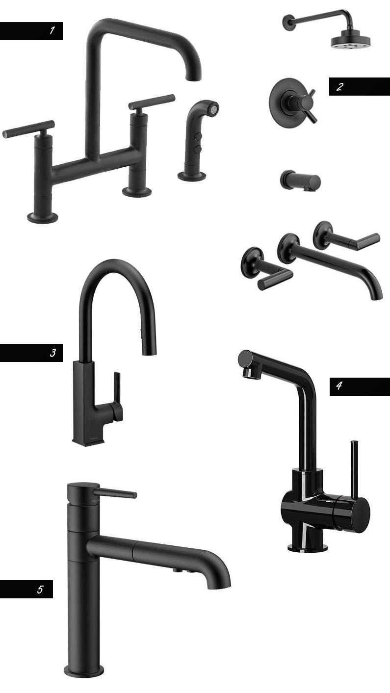 1) Kohler Purist2) Brizo3) Moen4) Ikea5) Delta Trinsic