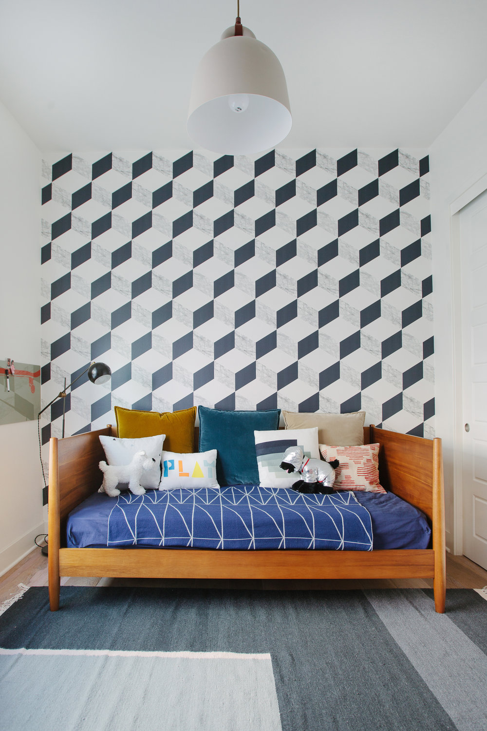 Milton and King Marble Block  wallpaper in Playa Vista playroom