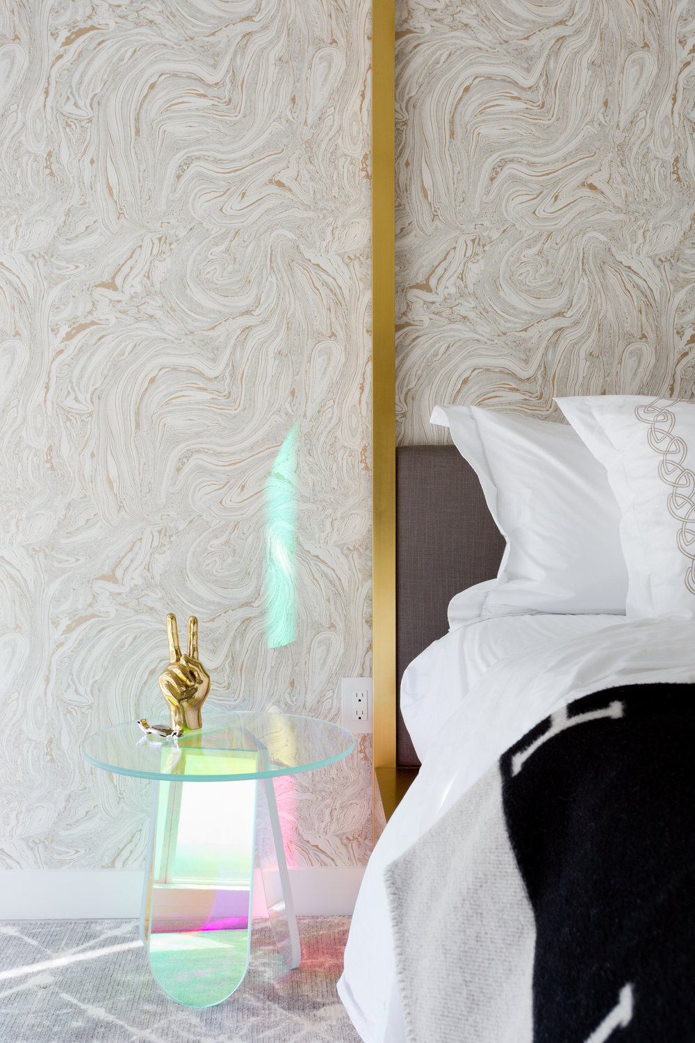 Bain de Minuit wallpaper  in Beverly Hills Master bedroom