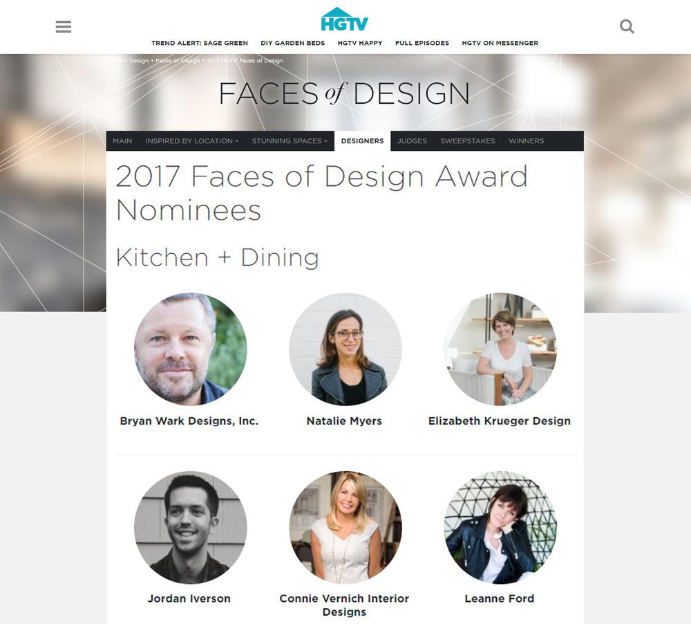HGTV Faces of Design 2017 Nominee