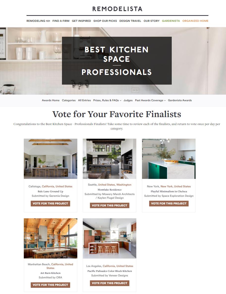 Remodelista Considered Design Awards 2018 Finalist