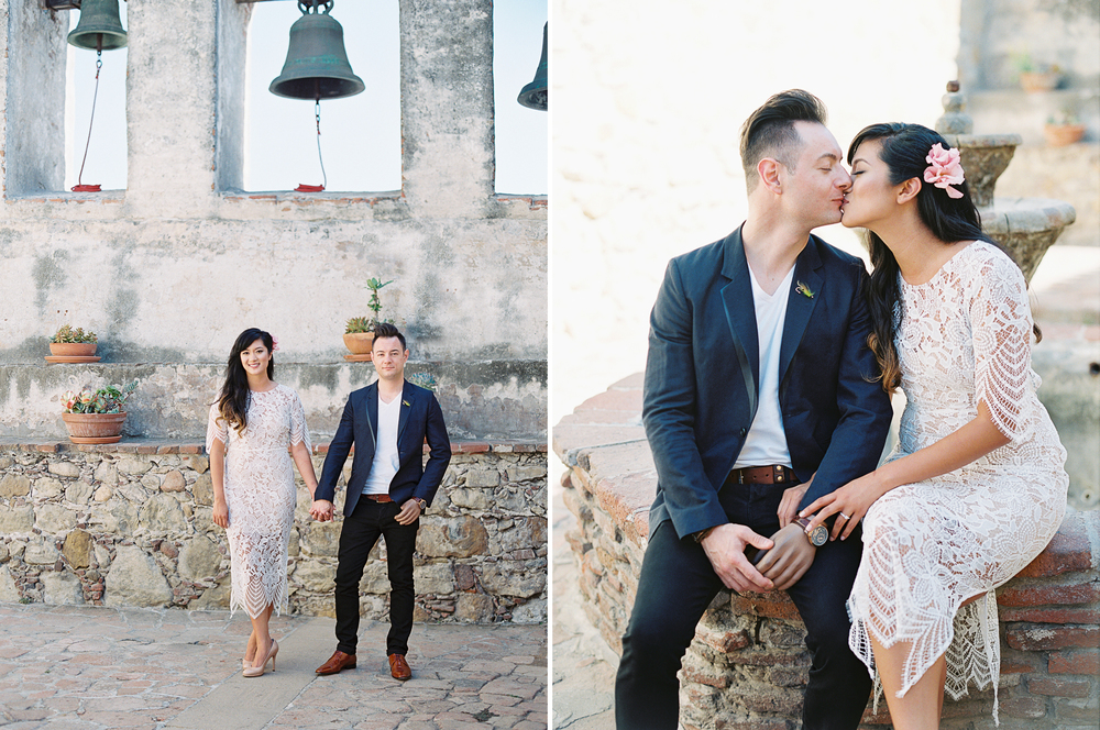 mission san juan capistrano engagement session wedding photographer