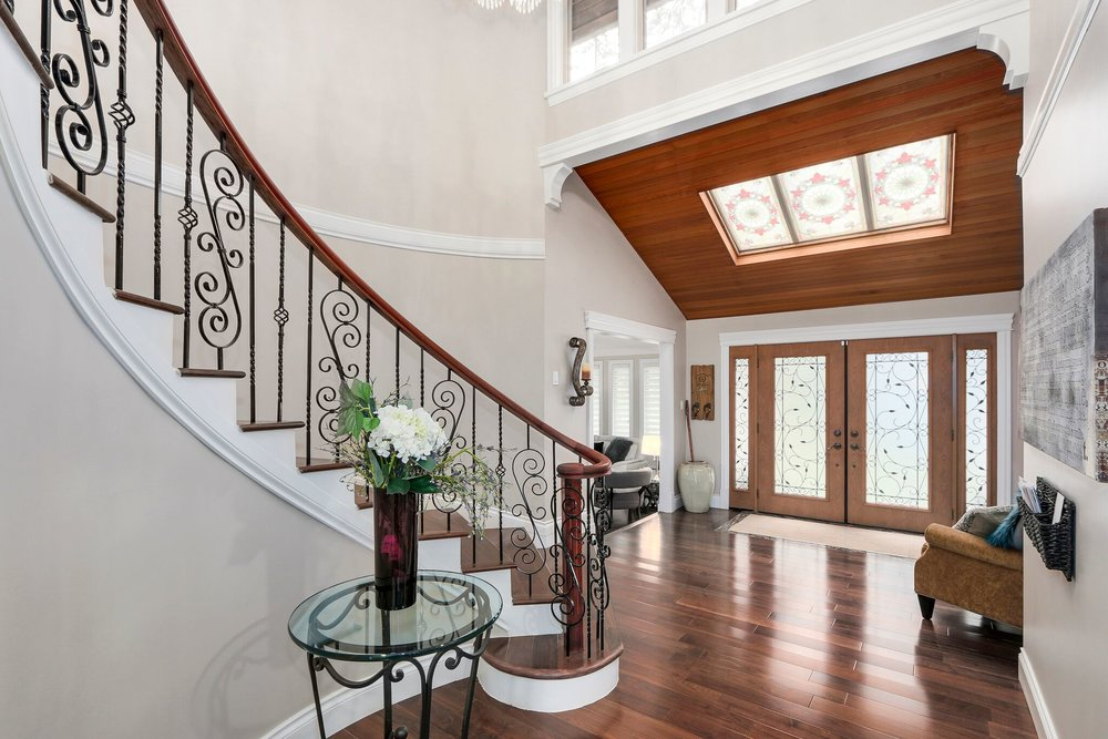 Luxury Winding Staircase Renovation in Coquitlam