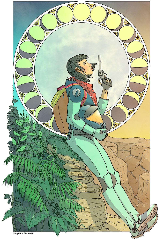 Final Artwork by Evan Limberger for Raven the Astrobotanist