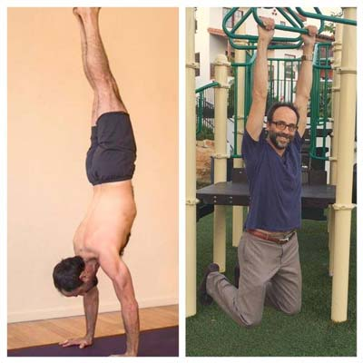 Handstand (adho mukha vrksasana) and hanging are perfectly-balancing shoulder pushing & pulling movements.