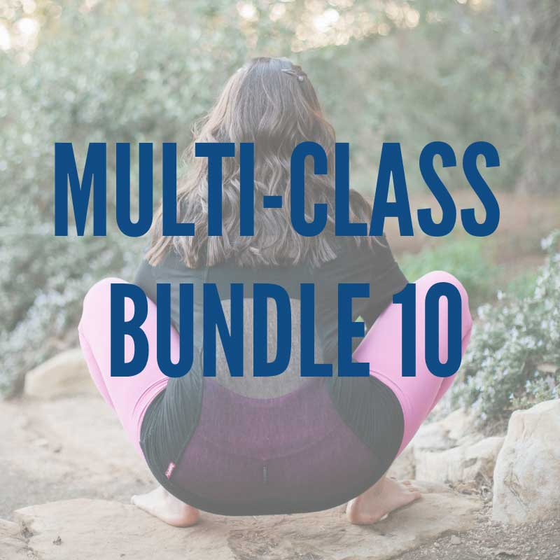 Multi-Class Bundle 10:   -Low, Slow & Strong 2 -Thoracic Spine Extension Practice -20-Minute Feel Good Flow -Sun Salutation-ish Core Flow