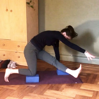 This creative floor-based practice utilizes shoulder & hip work to build to a very unique & fun transition!