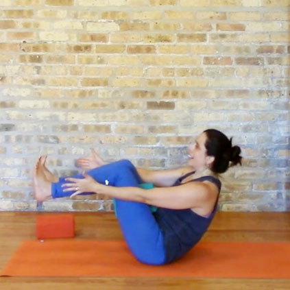 This creative practice starts off with a smart upper body and spinal mobility warm up, and then moves into a steady, full-length class-style standing flow that will likely make you sweat!