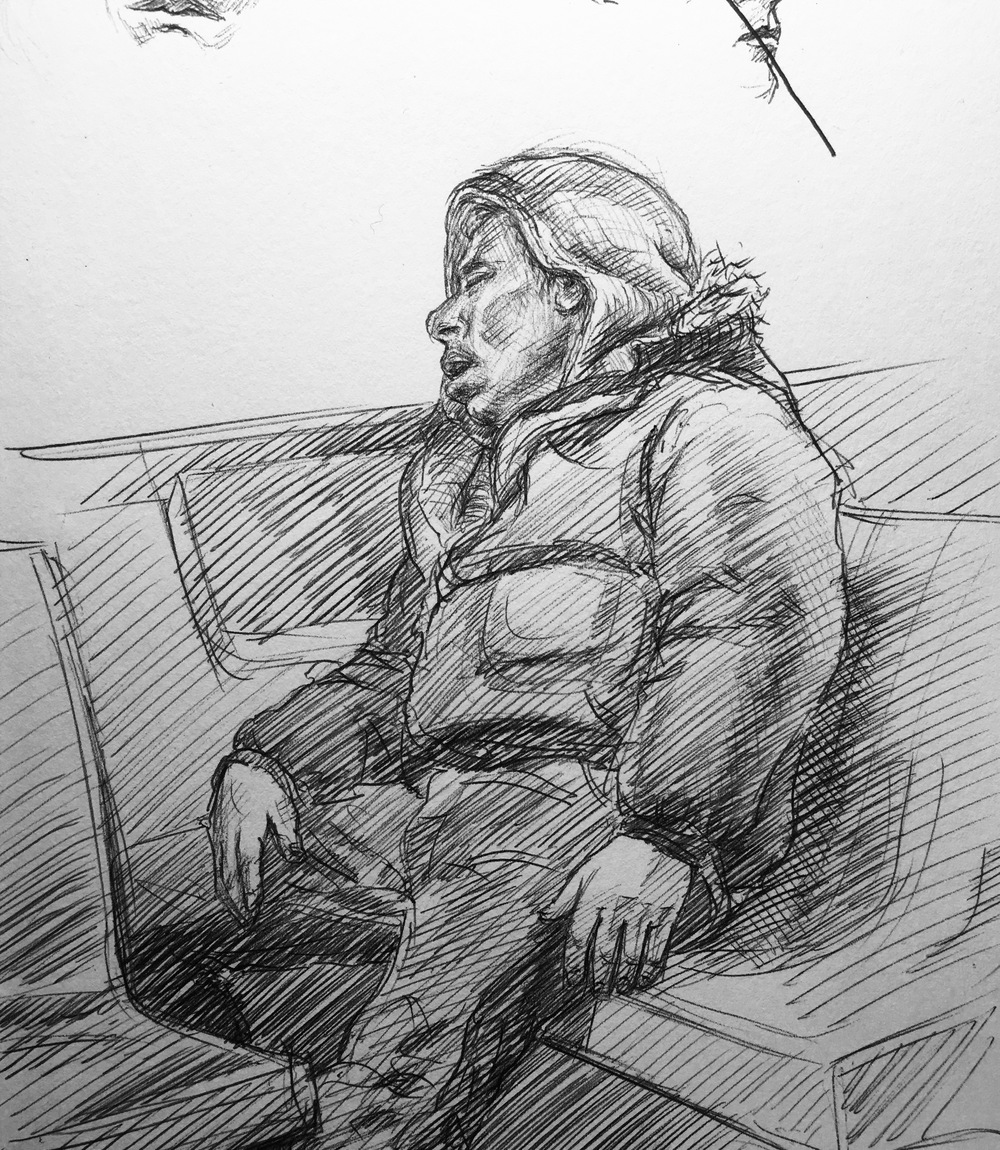 area man sleeping, A train