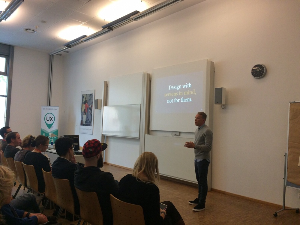 "Talking at the Frankfurt UX Congress - "" What's Behind the Corner for UX? """