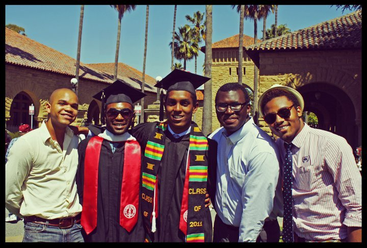 Justin, Cory, Natie, Josh, and Me at Stanford's 2011 Commencement