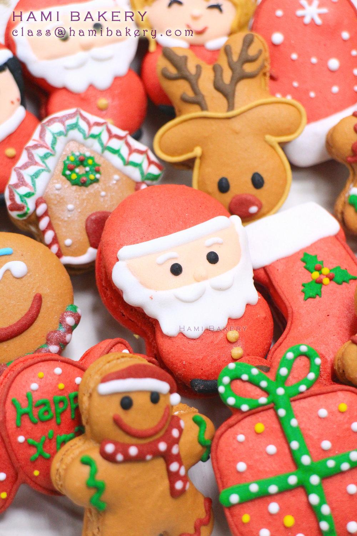 《聖誕老人紅色系列Macaron/ 薑餠鹿仔啡色系列Macaron》 3.5至4小時一堂, 每人$450/堂,可做 10-15個Macaron 19/11 Sun 2:00pm 25/11 Sat 2:30pm