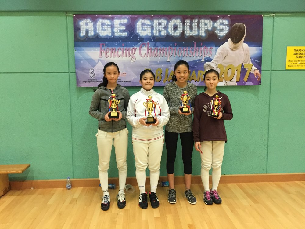 Age Group Fencing Championships 2017 Cadet Women's Foil.JPG