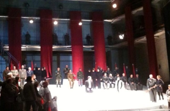 Calaf in Act II of Turandot, National Opera of Tirana, Albania