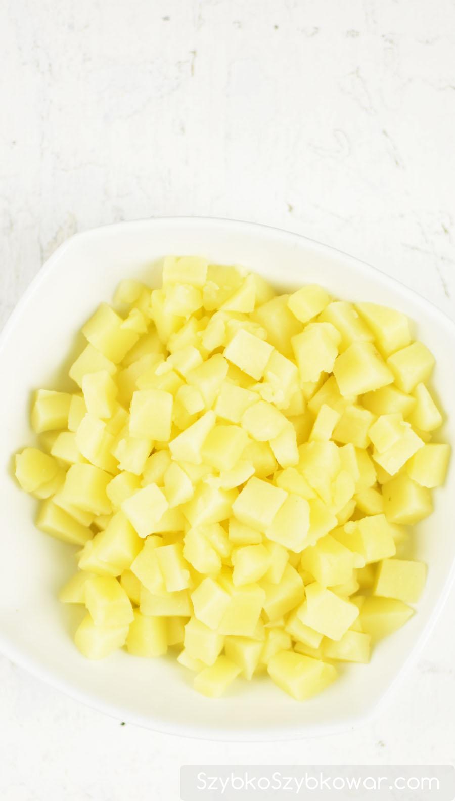 Ugotowane ziemniaki.
