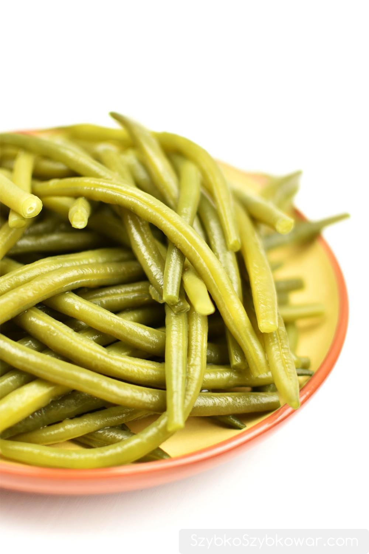 Idealnie ugotowana fasolka szparagowa. Palce lizać!