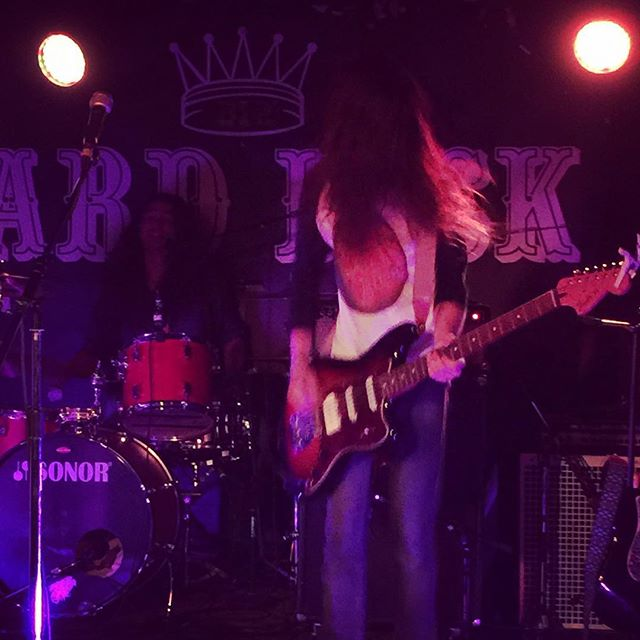 My dearest friend Kevin is ripping up  the #stage tonight with his two-piece #band @crownlandsmusic #toronto #concert
