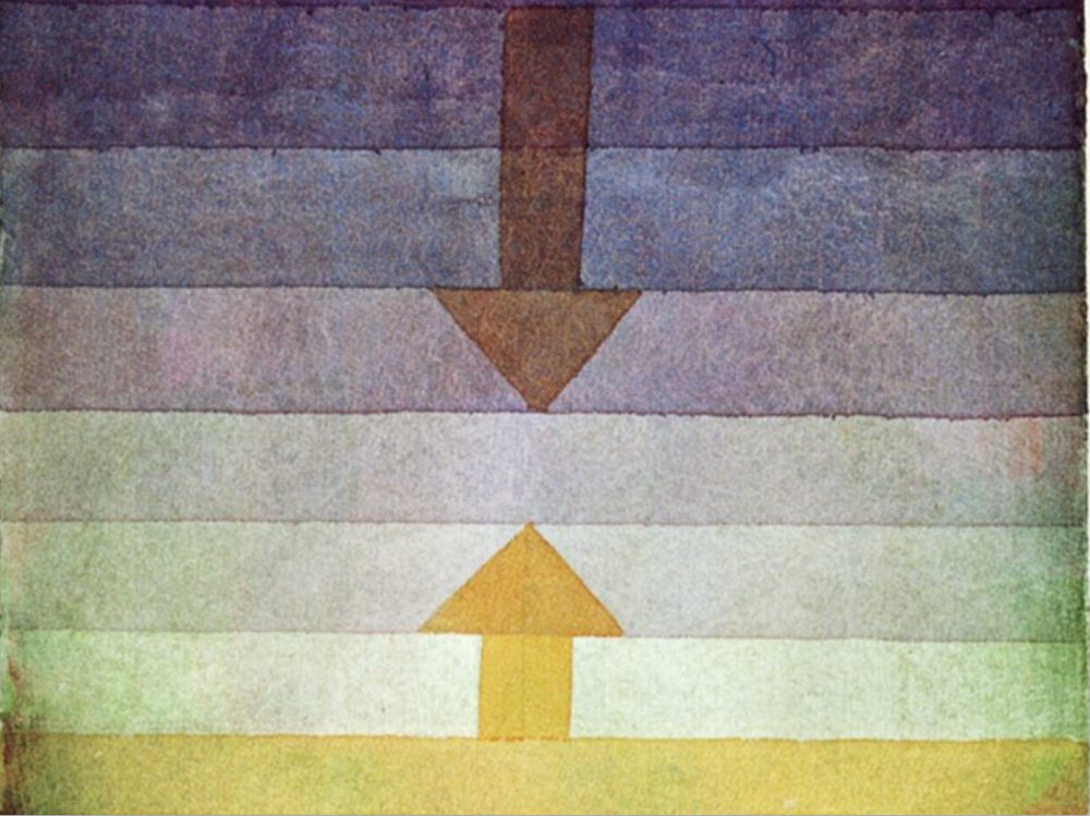 "From ""Separation in the Evening, 1922"" by Paul Klee"