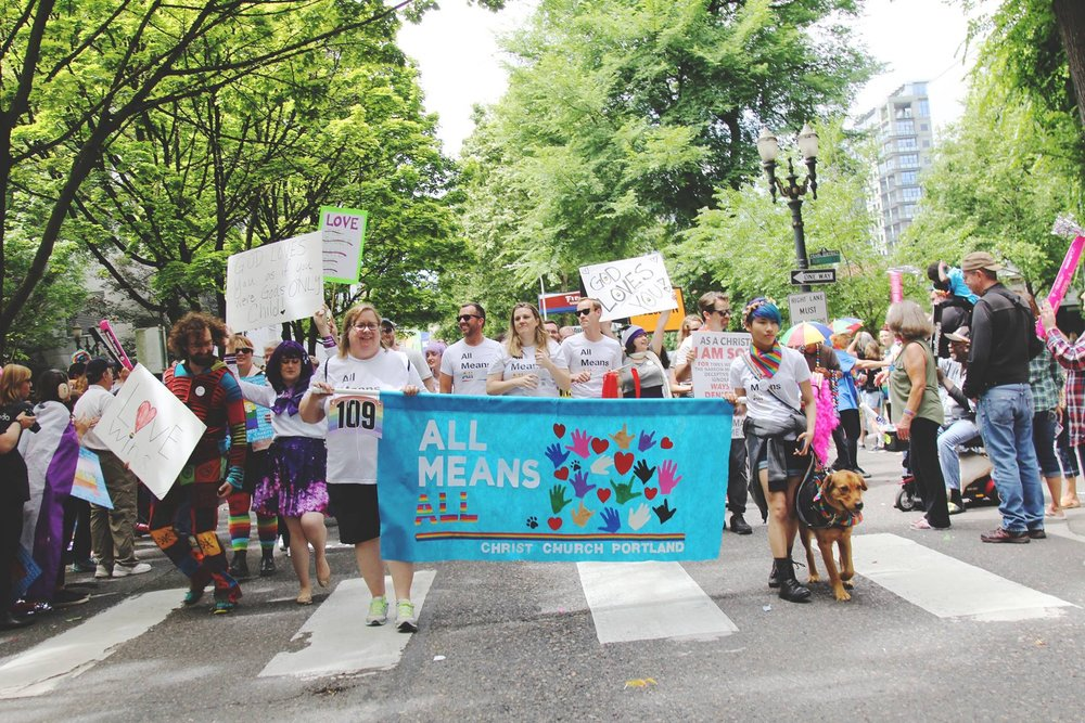 The Christ Church: Portland contingent at 2017 Portland Pride