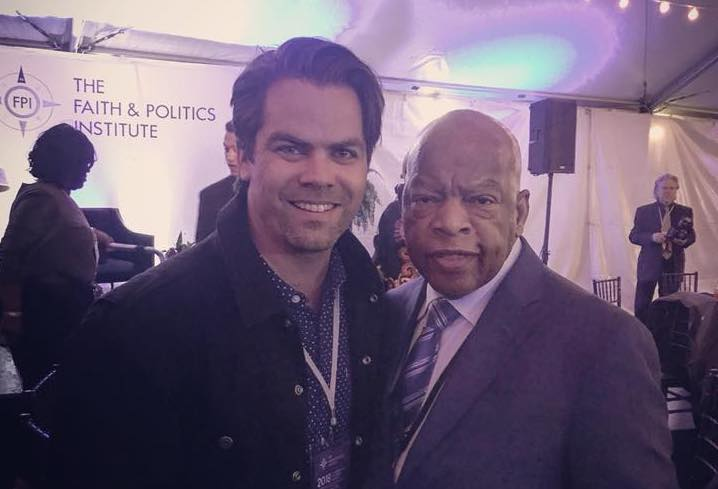 Rev. Adam Phillips with Rep. John Lewis on a recent Civil Rights Pilgrimage