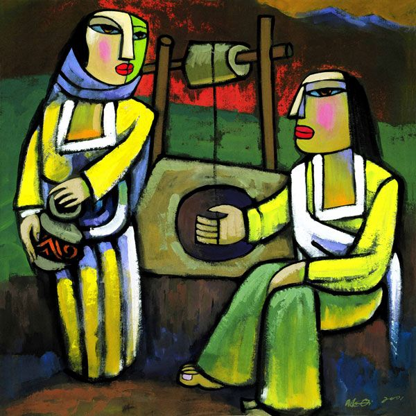 "He Qi, ""Jesus and the Samaritan Woman"""